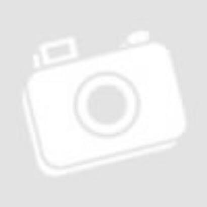 Bogyós nyaklánc (virágos lógó) ezüst szürke és meggypiros